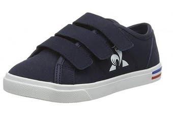 (12.5 UK Child, Blue (Dress Blue Dress Blue)) - Le Coq Sportif Unisex Kids' Verdon Ps Premium Dress Blue Trainers
