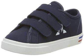 (4.5 UK Child, Blue (Dress Blue Dress Blue)) - Le Coq Sportif Unisex Kids' Verdon Inf Premium Dress Blue Trainers
