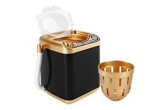 (Black) - Makeup Sponge Mini Washing Machine, Automatic Makeup Sponge Washing Toy for Makeup Sponge