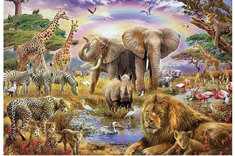 (Animals) - 1000 Pieces Puzzles Wooden Jigsaw Puzzles Floor Puzzle Animal Puzzle for Adults Kids Intellectual Game Learning Education Decompression Toys