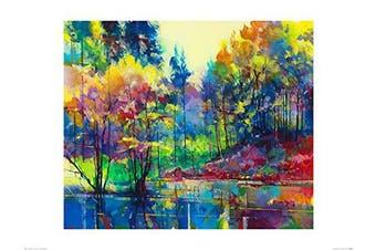 Art Group The Doug Eaton (Meadowcliff Pond) -Art Print 60 x 80cm, Paper, Multicoloured, 60 x 80 x 1.3 cm