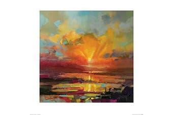 (60 x 60 x 1.3 cm) - Art Group The Scott Naismith (Optimism Sunrise Study) -Art Print 60 x 60cm, Paper, Multicoloured, 60 x 60 x 1.3 cm