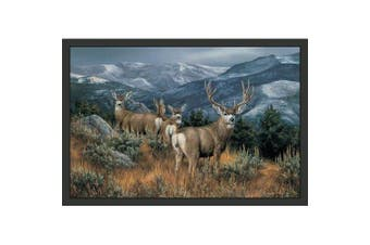 Custom Printed Rugs Last Glance The Mule Deer Mule Deer Sensing Danger Rugs