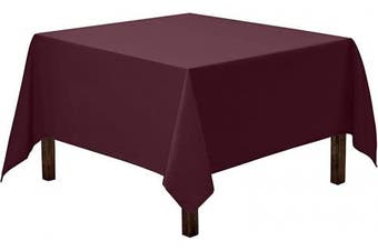 (85 x 85, Eggplant Tablecloth) - Gee Di Moda Square Tablecloth - 220cm x 220cm - Eggplant Square Table Cloth for Square or Round Tables in Washable Polyester - Great for Buffet Table, Parties, Holiday Dinner, Wedding & More