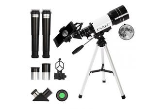(30070) - ESAKO Telescope for Kids & Beginners 70mm Portable Astronomical Telescopes with Phone Mount Moon Filter & 3X Barlow Lens