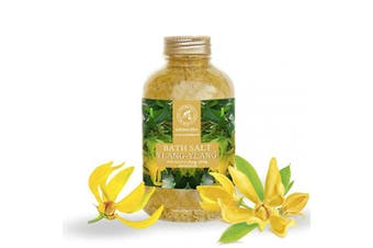 Bath Salt Ylang Ylang 600 g - Natural Sea Salt - with Ylang-Ylang Essential Oil - Best for Baths - Good Sleep - Relaxing - Body Care - Beauty - Aromatherapy