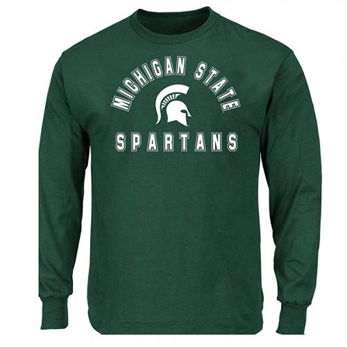 NCAA Mens Big and Tall Long Sleeve Cotton Tee Shirt