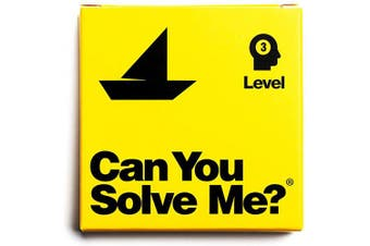 (Level 3 Boat) - Can You Solve Me. - Puzzle - Challenging Tangram, IQ Toy, Brainteaser, Mind Game for Children + Adults - Includes Geometric Shape (Level 3 Boat)