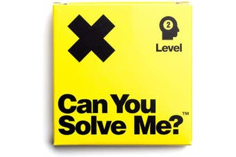 (Level 2 X) - Can You Solve Me. - Puzzle - Challenging Tangram, IQ Toy, Brainteaser, Mind Game for Children + Adults - Includes Geometric Shape (Level 2 X)
