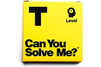 (Level 1 T) - Can You Solve Me. - Puzzle - Challenging Tangram, IQ Toy, Brainteaser, Mind Game for Children + Adults - Includes Geometric Shape (Level 1 T)