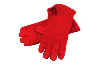 (1) - Lodge Red Leather Gloves