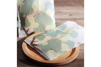 (10cm  x 15cm  Tree) - Glassine Waxed Paper Bags 4x 6 Flat for Candy Bakery Cookies Snacks Party Gift Wrapping Birthday Christmas, Pack of 100 by Quotidian (10cm x 15cm Tree)