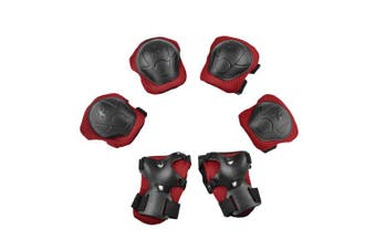 6in1 Extre Sports Wrist Elbow Knee Guards Pad Set Protective Gear Roller Skating Cycling Scooter for