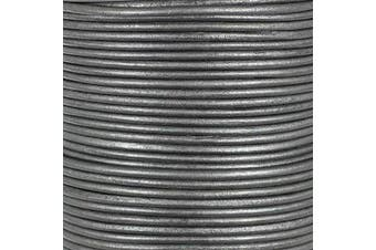 (5 Yards, Gray) - Craft County Round Leather Cord – 3mm (Grey, 5 Yards)