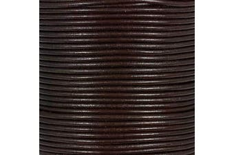 (5 Yards, Red Brown) - Craft County Round Leather Cord – 3mm (Red Brown, 5 Yards)