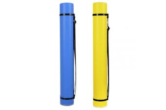 """2-Pack Extendable Poster Tubes Expand from 24.5"""" to 40"""" with Shoulder Strap 