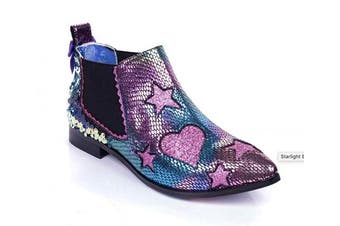 (5 UK, Pink (Pink Dark)) - Irregular Choice Women's Starlight Empress Ankle Boots
