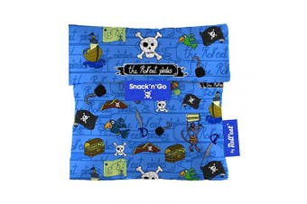 (Blue) - Roll'eat - Snack'n'Go Kids Reusable Sandwich Bag Ecological and Reusable BPA Free, Pirates Blue