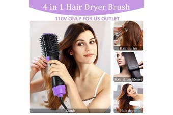 Hair Dryer Brush, Abody Hot Air Brush One-Step Hair Dryer & Volumizer with Ceramic Coating, Negative Ionic Technology for Drying, Straightening and Curling All types Hair, Include 2 Hair Clips