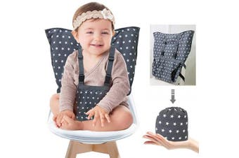 (Royalblue) - Portable Baby High Chair Safety Seat Harness for Toddler, Travel Easy High Booster Seat Cover for Infant Eating Feeding Camping with Adjustable Straps Shoulder Belt,Holds Up to 17kg.