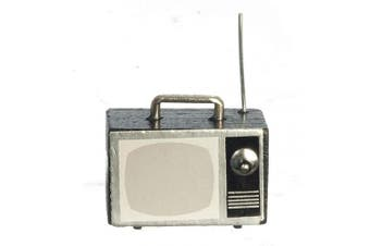Melody Jane Dolls House 1960's Portable Television TV Set 1:12 Scale Living Room Accessory