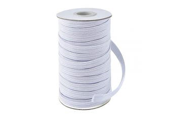 (1.3cm , White) - Coopay 45 Yards Length 1.3cm Width Elastic Cord Elastic Bands Elastic Rope Heavy Stretch Elastic Spool Knit for Sewing (White, 1.3cm )