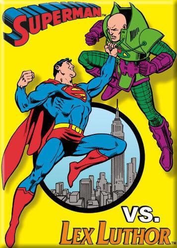 Superman vs Lex Luther Refrigerator Magnet Officially Licenced Magnet with colorul design Superman vs Lex Luther Refrigerator Magnet Makes a Great Gift Superman vs Lex Luther Refrigerator Magnet