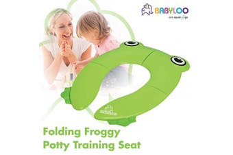 (Green) - Babyloo Foldable Potty Training Seat with Bag
