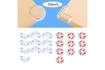 Corner Protectors, Clear Edge Bumpers, Rubber Corner Guards for Baby Proof Safety Rubber Cabinet Cushion Cover for Furniture Against Sharp Corner