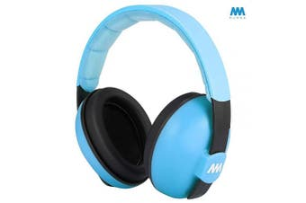 (Skyblue) - Baby Ear Protection Noise Cancelling Headphones for Babies and Toddlers - Mumba Baby Earmuffs - Ages 3-24+ Months - for Sleeping, Studying, Aeroplane, Concerts, Movie, Theatre, Fireworks