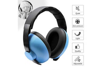BANY BANN Baby Noise Cancelling Headphones for Ages 0-2 Years - Ear Muffs Noise Protection - Baby Ear Protection - Blue