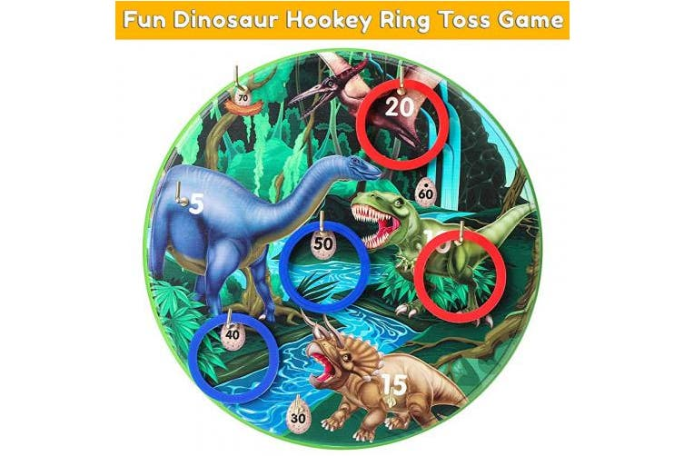 Dick Smith Kids Dinosaur Betterline Hookey Ring Toss Game Fun And Challenging Number Tossing Game For Adults And Kids 11 8 Inch 30cm Board Safer Than Darts