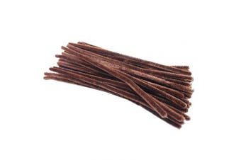 (Brown) - Pipe Cleaners Chenille Stems for DIY Art Craft 6 mm x 12 Inch 100 Pieces