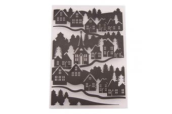 BUZHI Embossing Folder House 10cm by 15cm