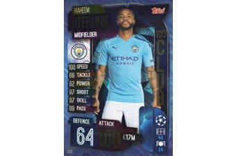 MATCH ATTAX 19/20 RAHEEM STERLING 100 CLUB TRADING CARD - MANCHESTER CITY