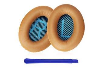 (Khaki) - TesRank Replacement Ear Pads Ear Cushion Kit for Bose QuietComfort QC 2 15 25 35 AE2 AE2i AE2w SoundTrue SoundLink Headphones, Khaki