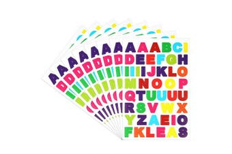 (30) - Belerry 30 Sheets Colourful Self Adhesive Letter Stickers Alphabet Stickers Cardstock Stickers, Different Colour Alphabet Available (A to Z) (30)