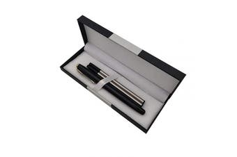 (Black) - Accod Metal Ballpoint Pen Roller Ballpen Office Signature Pen High-end Gift Box with Two Replaceable Black Refills(0.5mm) Perfect Gift for Friends Classmates Family and Colleagues (Black)