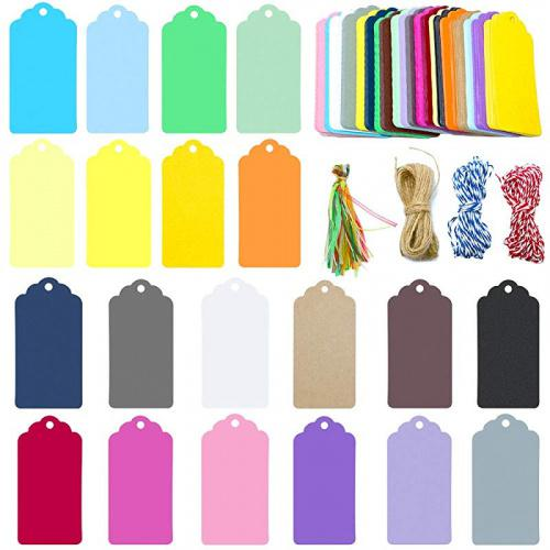 (Colourful) - Gift Tags,200 Pcs Paper Tags,9 * 4.5 cm Favour Tags with 4 Kinds of String(20 Colours of Tags,10 Pcs for Each Colour) Colour Name: Colourful Material:paper card. Size: 9 * 4.5 cm. The width of the colourful ribbon:2 cm. The length of two cotton string and one jute string:20m. The colourful tags are great as gift tags, thank you tags, favour tags, clothing tags, price tags, mason jar tags, Christmas gift tags or other place name cards. Package included: 200 PCS gift tags(20 colours,10 PCS of each colour) with 4 kind of string. If there's anything wrong with tags,please contact us by email,we'll solve it for you asap.