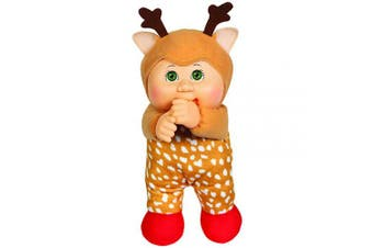 Cabbage Patch Kids Cuties Jingle Reindeer 23cm Soft Body Baby Doll - Holiday Helper Collection