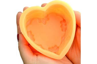Silicone Soap Mould and Gift Package Set Big Heart Rose Flower Shape Mould for Lotion Bar Bath Bomb Hand Made Crafts Soap Making Supplies