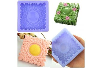 Silicone Soap Mould and Gift Package Set Christmas Ivy Flower Square Shape Hand Made Crafts Soap Making Supplies