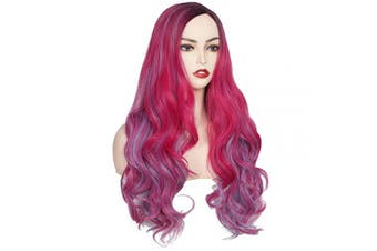 (Mixed Color) - ColorGround Long Wavy Halloween Cosplay Wig (Mixed Colour)
