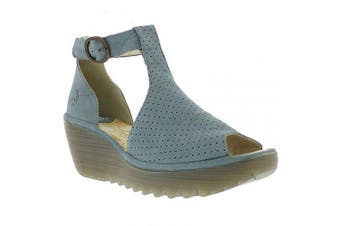 (7 UK, Blue (Pale Blue 011)) - Fly London Women's Yall962fly T-Bar Sandals