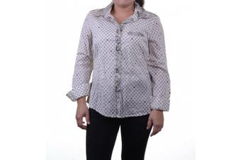 Style & Co Petite Printed Long Sleeve Shirt Size PS Dots and Spots