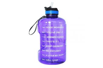 ( 3.8l, Light Purple) - BuildLife Gallon Motivational Water Bottle Wide Mouth with Straw & Time Marked to Drink More Daily,BPA Free Reusable Gym Sports Outdoor Large(3790ml2160ml1270ml) Capacity