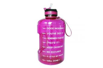 (2160ml, Purple) - BuildLife Gallon Motivational Water Bottle Wide Mouth with Straw & Time Marked to Drink More Daily,BPA Free Reusable Gym Sports Outdoor Large(3790ml2160ml1270ml) Capacity