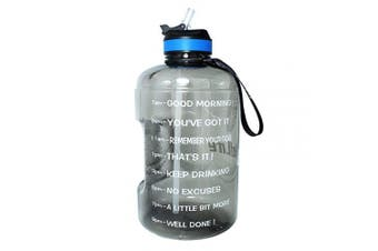 (2160ml, Gray) - BuildLife Gallon Motivational Water Bottle Wide Mouth with Straw & Time Marked to Drink More Daily,BPA Free Reusable Gym Sports Outdoor Large(3790ml2160ml1270ml) Capacity