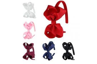 (Fs007-1) - 7Rainbows Girls Boutique Grosgrain Ribbon Headbands with Bows(FS007-1)