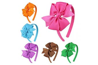 (Fs010-3) - 7Rainbows Girls Boutique Grosgrain Ribbon Headbands with Bows(FS010-3)